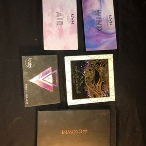Lot of 5 eyeshadow palettes! Nyx, pur, crown